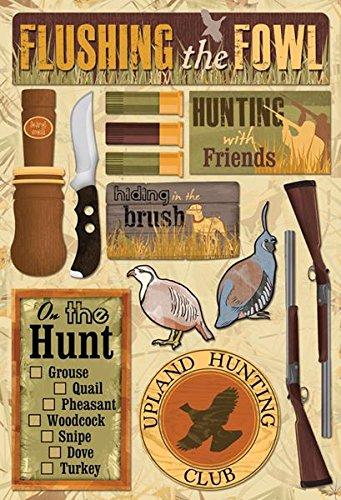Phrases Stickers Scrapbook Cardstock - KAREN FOSTER Cardstock Stickers-Upland Hunting