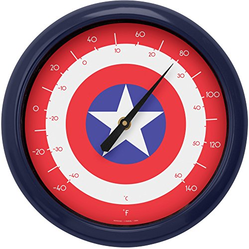 - Captain America Logo 10 Inch Outdoor Thermometer