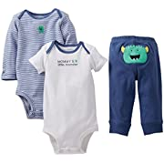 Carter's Baby Boys' 3 Piece  Take me Away  Set (Baby) - Mommys Monster - Blue - 6 Months
