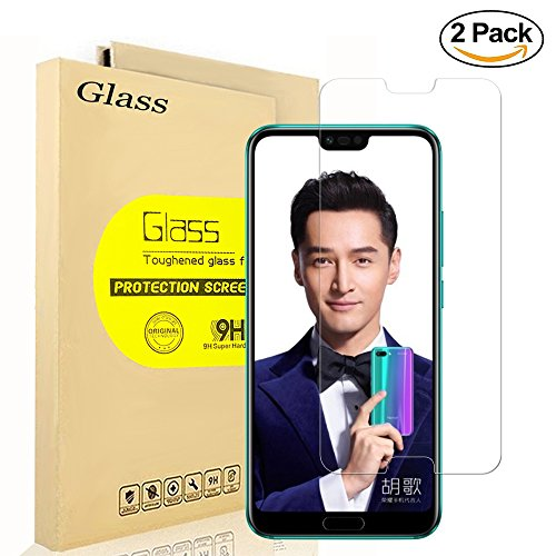 [2-Pack] Huawei Honor 10 Screen Protector, AOLANDER [HD Clear] [Bubble Free] [HD Clear] [Anti-Fingerprint] Premium Tempered Glass Screen Protector for Huawei Honor 10