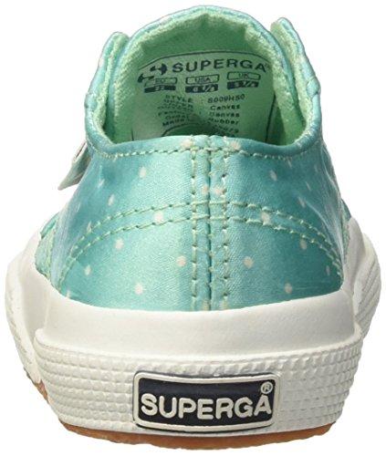 Superga Mädchen 2750-Dotssatinj Low-Top Verde (Aquamarine/Dotswhite)