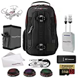 DJI Mavic Pro Accessories Bundle Includes Drone World Exclusive Backpack, Lens Filters, Memory Card/Reader, Power Bank, iPhone Cable, Lanyard, Sun Shade, Cleaning Cloth and Free Mini Drone