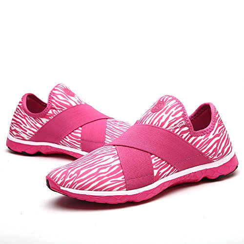 aleader Damen-Walking Schuhe Licht Gewicht Wasser Sneakers Rose