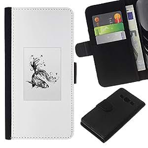 NEECELL GIFT forCITY // Billetera de cuero Caso Cubierta de protección Carcasa / Leather Wallet Case for Samsung Galaxy A3 // Goldfish tribal