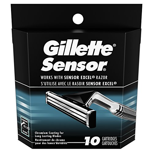 Gillette Sensor Men's Razor Blade Refills, 10 Count, Mens Razors/Blades by Gillette