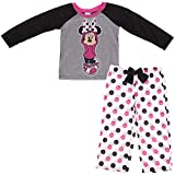 AME Girls 4-10 Gray Minnie Mouse Pajamas