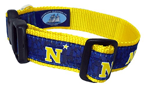 Charm City Clothing Naval Academy N Star Dog Collar (Large)