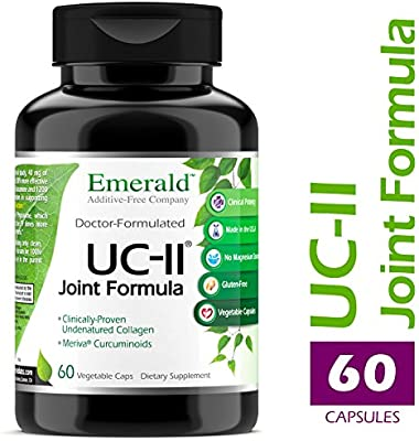 UC-II Joint Formula - w/ Meriva Phytosome & Bioperine - Supports Joint & Cartilage Repair, Collagen Growth, & Reduce Pain & Inflammation - Emerald Laboratories (Ultra Botanicals) - 60 Veg Capsules