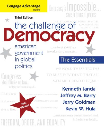 Download Cengage Advantage Books: The Challenge of Democracy, Essentials: American Government in Global Politics Pdf