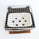 萬古焼 角型串焼 黒(小)七輪 焼肉コンロ バーベキュー