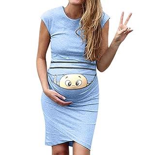 Zerototens Pregnancy T Shirt,Women Maternity Nursing Tops Three Quarter Sleeve Splice Baseball Tops Breastfeeding Sweatshirt Casual Tunic Tops