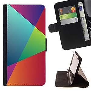 Momo Phone Case / Flip Funda de Cuero Case Cover - Geometría del arco iris;;;;;;;; - Samsung Galaxy S5 Mini, SM-G800
