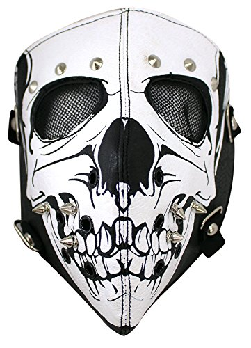Enimay Full Face Cover Biker Motorcycle Safety Mask Halloween Accessory Skull ()
