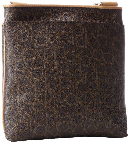 Klein Calvin Brown MoNogram Khaki Hudson Bag Camel TggqxR8