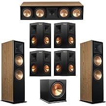 Klipsch 7.1 Cherry System with 2 RF-7 III Floorstanding Speakers, 1 RC-64 III Center Speaker, 4 Klipsch RP-250S Surround Speakers, 1 Klipsch R-115SW Subwoofer