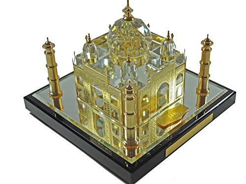 24k Gold Taj Mahal with Story Card, Taj Mahal Souvenir, Taj Mahal Model, Taj Mahal Replcia, Indian Gifts, Tag Mahal (10 cm)