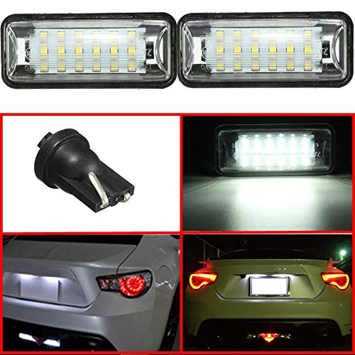 (Tail Light Assemblies Car License Plate Lights - LED License Plate Lamp For Subaru BRZ Legacy WRX STI Impreza XV Crosstrek - 1 x One Pair LED Number Plate Light)