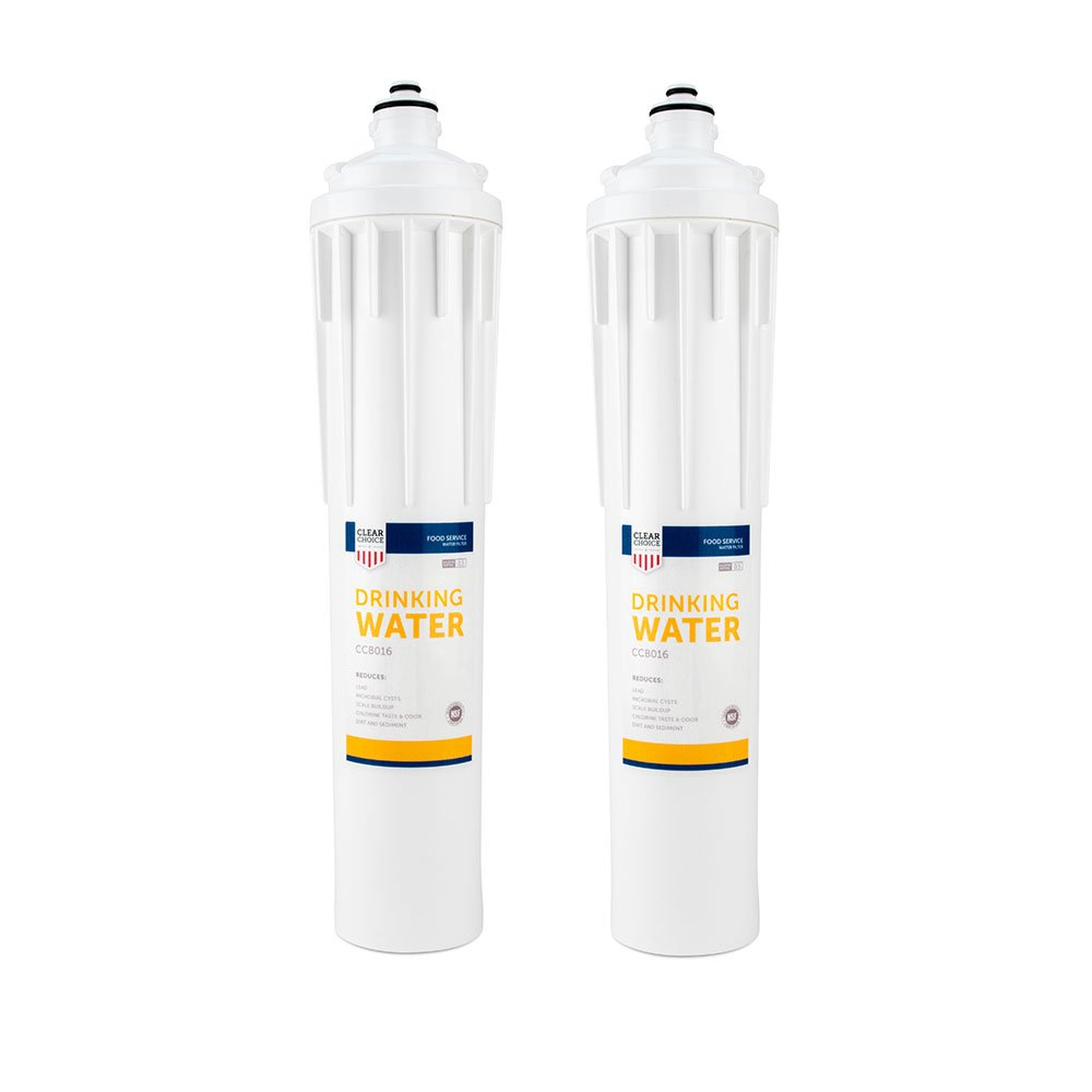 Clear Choice Drinking Water Filtration System Replacement Cartridge for Everpure EV9270-70 EV9270-71 EV9270-72 EV9270-76 EV9611-16 H-300 Also Compatible with Nu Calgon 9619-06 9635-06, 2-Pack