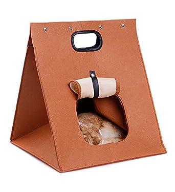 Caseta para perros y gatos, cama plegable portátil con cojín . Dimensiones 48 x 40 x 40 cm: Amazon.es: Iluminación