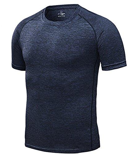4x 4xl T-shirt - Xintianji Men Compression Base Layer Workout Gym Fitness Quick Dry Short Sleeve T-Shirt Black 4XL