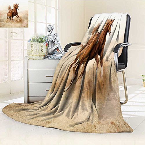 Luminous Microfiber Throw Blanket purebred white arabian horse in desert Glow In The Dark Constellation Blanket, Soft And Durable Polyester(60''x 50'') by aolankaili
