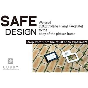 6×8 Colorful Safe Design Cubby Ultra Light Pictures Frame (All Black)