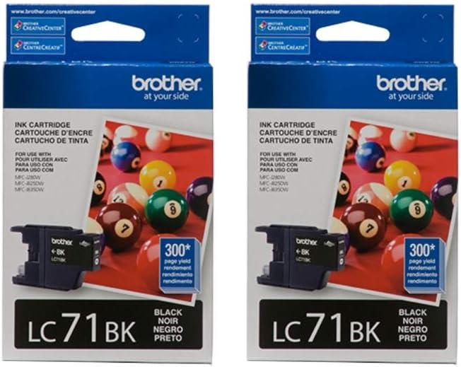 New in Box Genuine Brother LC71BK Ink Cartridge July 2020 Black