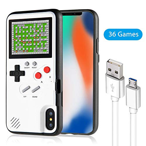Gameboy Phone Case for iPhone, Handheld Retro Video Game Console Compatible with iPhone X Xs 6 6s 7 8 Plus (iPhone X/Xs)