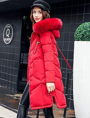 Femme avec Chemin Fourrure Fashion Doudoune Chaud Parka Tous Longues Jours Capuchon Hiver Les rqxwESrgF