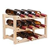Wine Racks Wall-Mounted solid wood home living room decoration restaurant hotel wine bottle rack solid wood strong and stable
