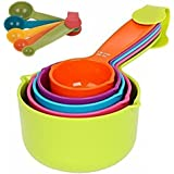 Combo Baking Measurement Measuring Cups 5 Pieces & Spoons 5 Pieces Set Of Each Big & Small (Multi-Colour)