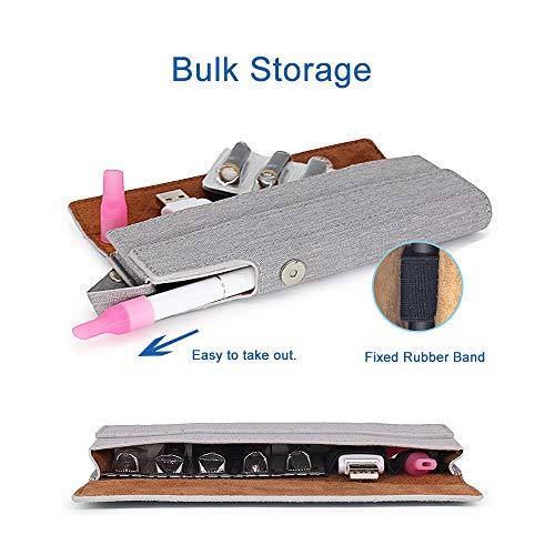 SHIODOKI Canvas Pen Accessories Kit Vitamin Vape Pouch Holder, Cord Storage, Soft Bag