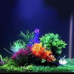 """Saim Plants Decorations Aquarium Artificial Plastic Plants Fish Tank Lifelike Underwater Aquatic Coniferous Leaves Grass Landscape Ornaments, Multicolor, 5.1"""" Height 106"""