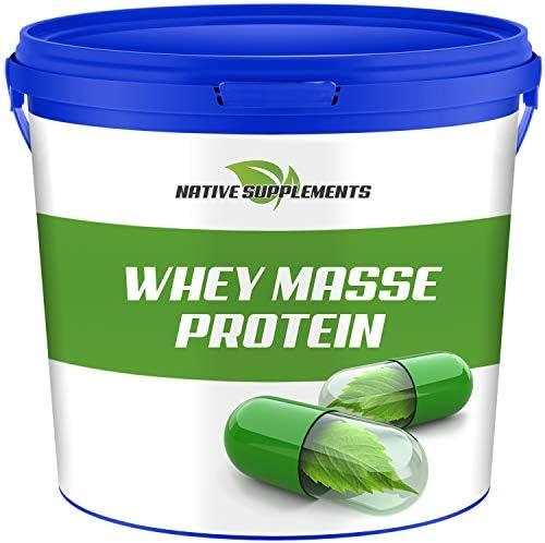 Whey Masse Protein, Eiweißpulver Complex, 2270g pro Dose, Vanille Geschmack, Mehrkomponenten Proteinkonzentrat, Eiprotein, Eiweissisolat, Muskelaufbau Shake, Nahrungsergänzungsmittel