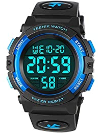 Kids Digital Sport Watch Led Military 50M Waterproof...