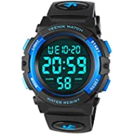 [Sponsored]Kids Digital Sport Watch Led Military 50M Waterproof Electronic Wrist Watches with...