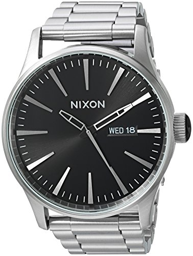 nixon-mens-sentry-ss-quartz-stainless-steel-casual-watch-colorsilver-toned-model-a3562348-00