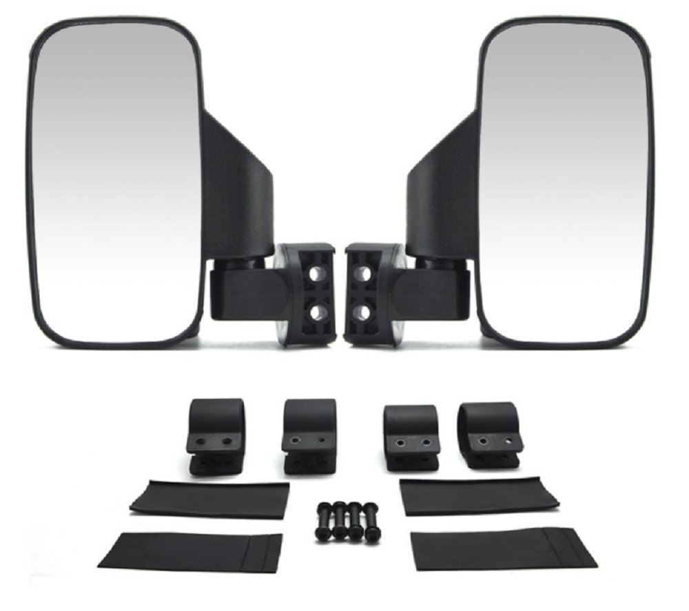 UTV Side Rear View High-Definition Convex Mirrors: Polaris Ranger Accessory Great Side by Side Mirror for RZR XP1000 900 800 Ranger (1.75'' Side)