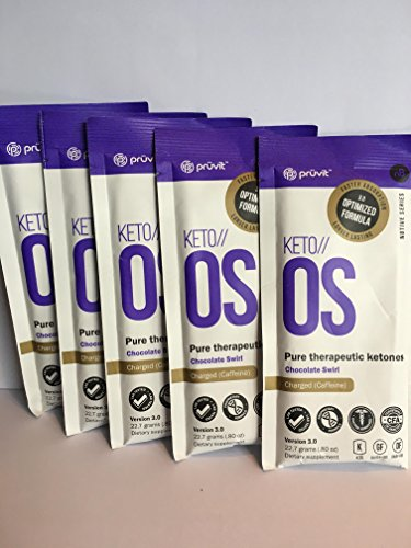KETO//OS Chocolate Swirl 3.0 CHARGED, Provides Sharp Energy Boost, Promotes Weight Loss and Burn Fats through Ketosis, 15 Servings