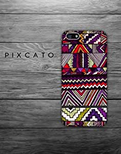 Aztec Tribal Pattern - Pattern 02 - 2D Iphone Case - Hard Plastic Case