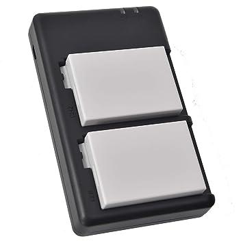 DSTE 2 Piezas de Recambio de bateria LP-E8 Batterie + USB ...
