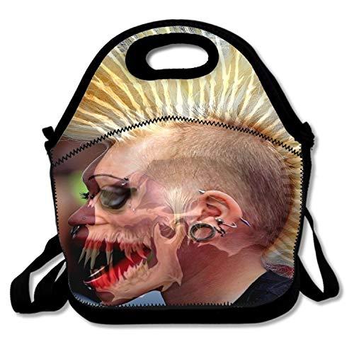 Reusable Halloween Costume Lunch Tote Bag Waterproof Insulated Lunch Bag Lunch Box Tote Bag -