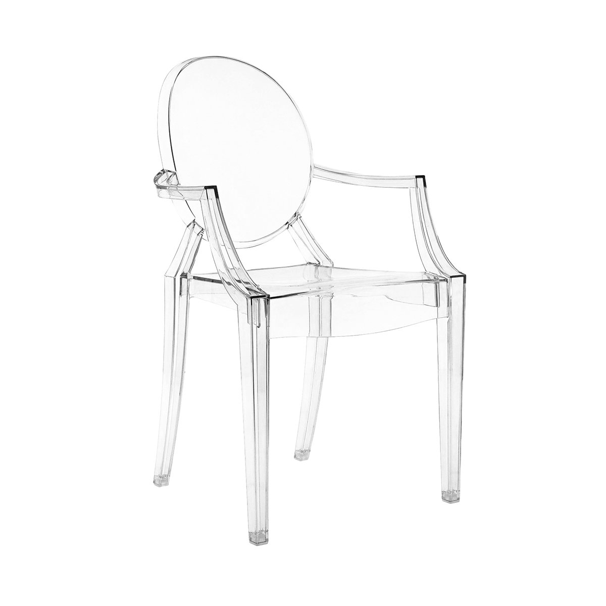 kartell louis ghost chair crystal amazoncouk kitchen  home - kartell louis ghost armchair clear
