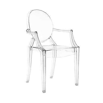 Sedia con Braccioli Trasparente Kartell Louis Ghost: Amazon.it ...