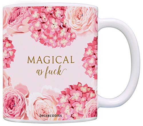 Magical As Fuck Mug, Classy Bitch I'm Fabulous Women's Gift Idea Magic Funny Christmas Humorous Birthday Present Her Woman Wife Girlfriend Friend Sister Coworker 11oz Ceramic Tea Cup Digibuddha - Bitches Black Magic