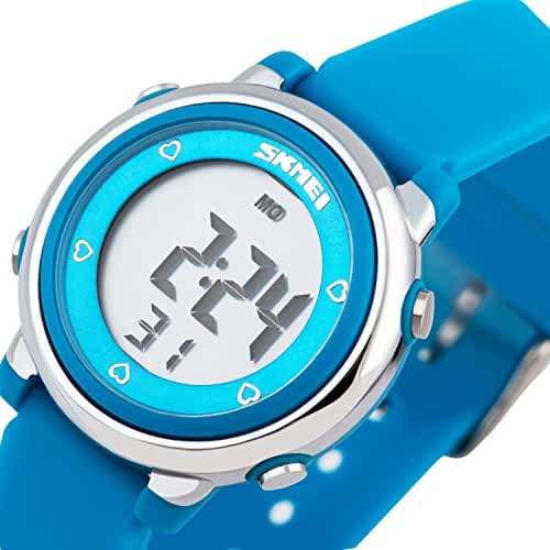 Better line Digital Kids Watch Band with Hourly Chime, Stopwatch, Daily Alarm & Calendar (Blue)