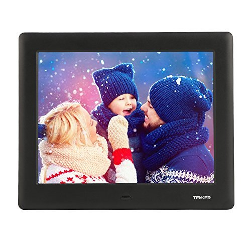 TENKER PF0070 HD Digital Photo Frame IPS LCD Screen with Auto-Rotate/Calendar/Clock Function, Mp3/Photo/Video Player with Remote Control, Black by TENKER