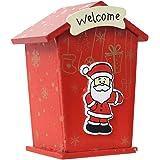 BESTOYARD かわいいコイン銀行玩具クリスマスサンタハウスコインボックスマネーボックスマネー銀行ピギーバンクキッドクリスマスギフトホームデコレーション(ランダムパターン)