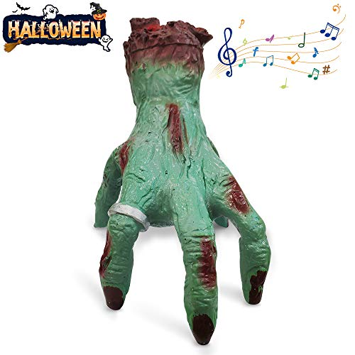 Making Things For Halloween (VATOS Halloween Decorations Crawling Hand, Halloween Crawling Cut Off Zombie Hands with Music Bloody Hand for Haunted House Bar Terror)