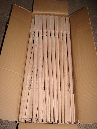 Solid oak Stair Balusters Spindles MINT BRAN NEW LOT OF (Wood Stair Baluster)